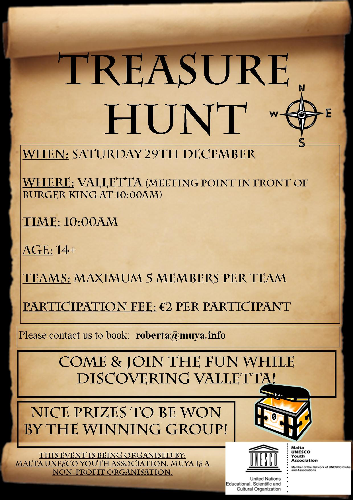 Treasure Hunt Poster Jpeg Maltacvs
