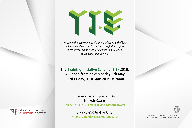 The Training Initiative Scheme Poster – MaltaCVS